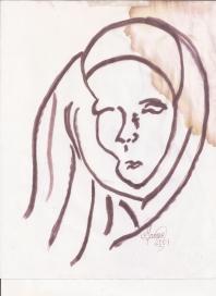 Abstracción del rostro Humano #34