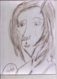 Abstracción del rostro Humano #28