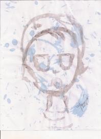 Abstracción del rostro Humano #29