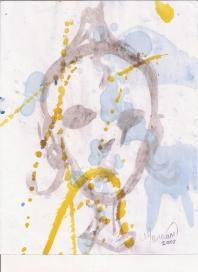 Abstracción del rostro Humano #44