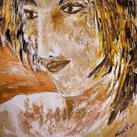 Abstracción del Rostro Humano (Pintura) San Miguel #36p