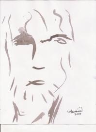 Abstracción del rostro Humano #13