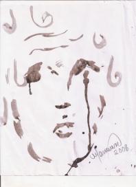 Abstracción del rostro Humano #20