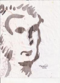 Abstracción del rostro Humano #8