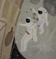 Atronautas en el espacio