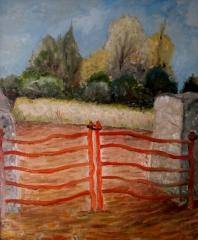 Barrière Rouge dans le campagne