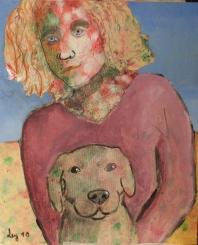 Chica y perro