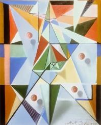 Composición abstracto geométrica 1