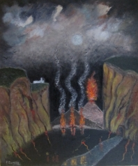 Croix en feu dans la vallée perdu