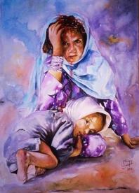 Desesperación de una madre