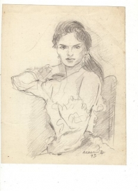 dibujo de María