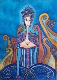 la princesa azul