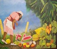 la recolectora de frutas