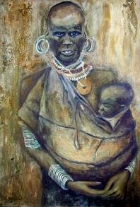 Maternidad Africana.
