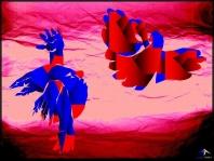 O Abraço - Óleo sobre lienzo de la serie