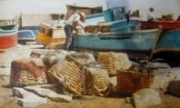 Pescadores trabajando