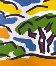 Pino con montañas amarillas - 2007