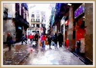 Calle junto a RAMBLAS ( Barcelona )