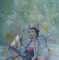 Retrato de mujer asiática y su aura