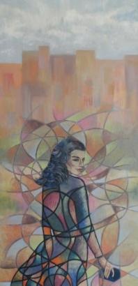 Retrato de mujer y su aura