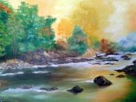 Rio en amarillo