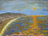 seascape with sun