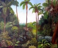 Selva con palmeras