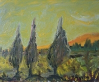 The orange hill