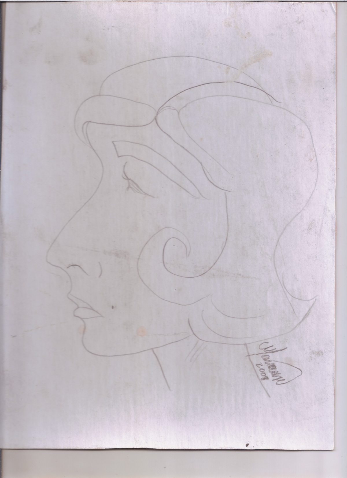 Abstracción del rostro Humano #31