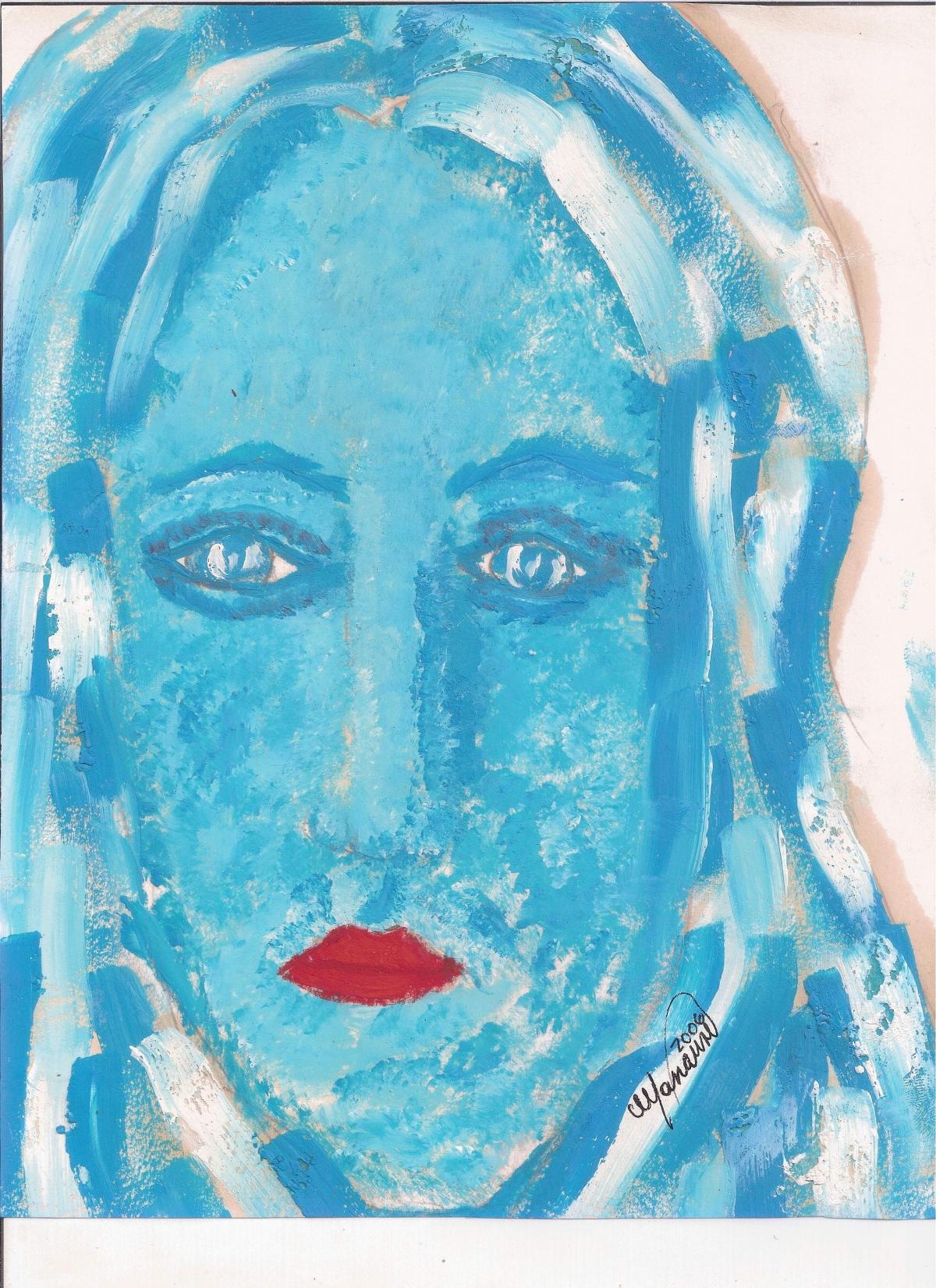 Abstracción del rostro Humano (Boceto) Rosario en el Mar #38