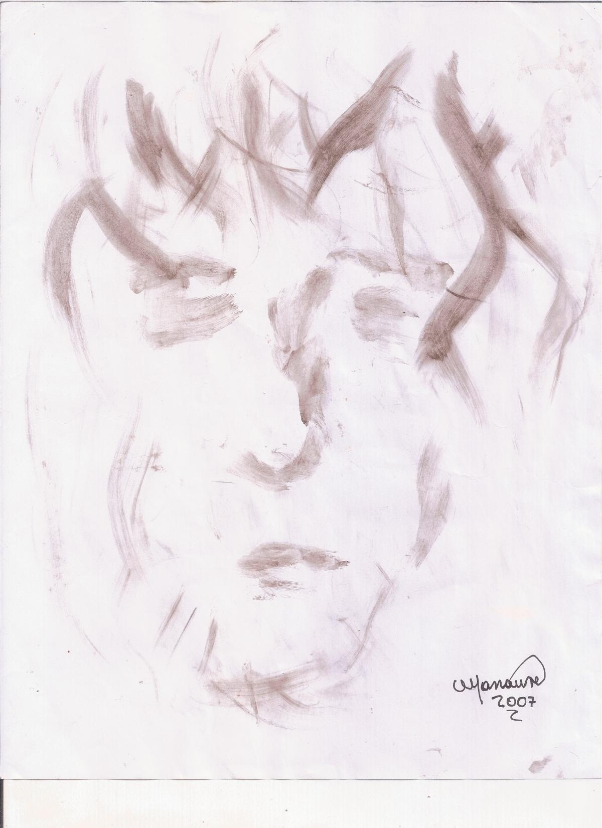 Abstracción del rostro Humano #18