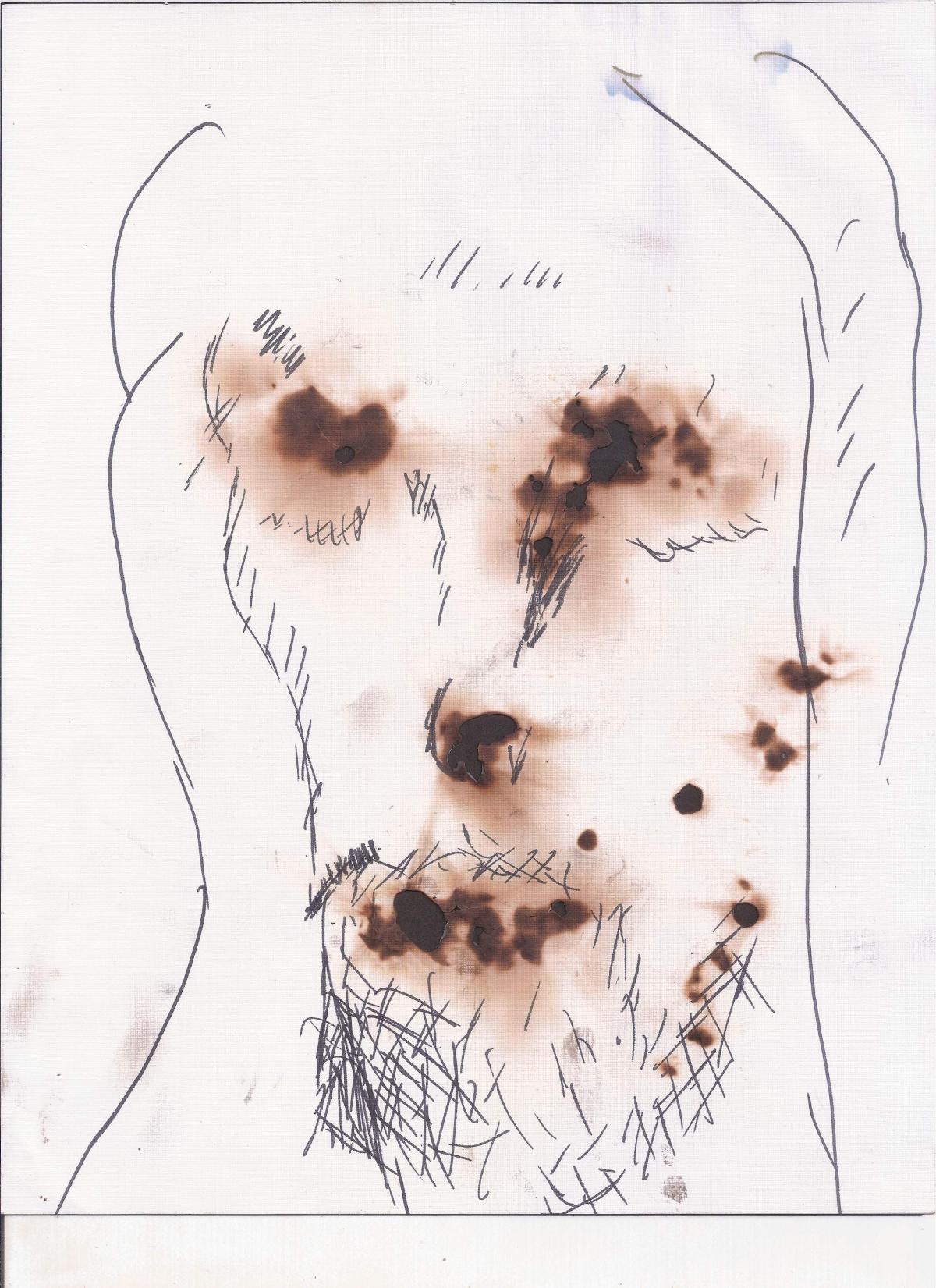 Abstracción del rostro Humano #33