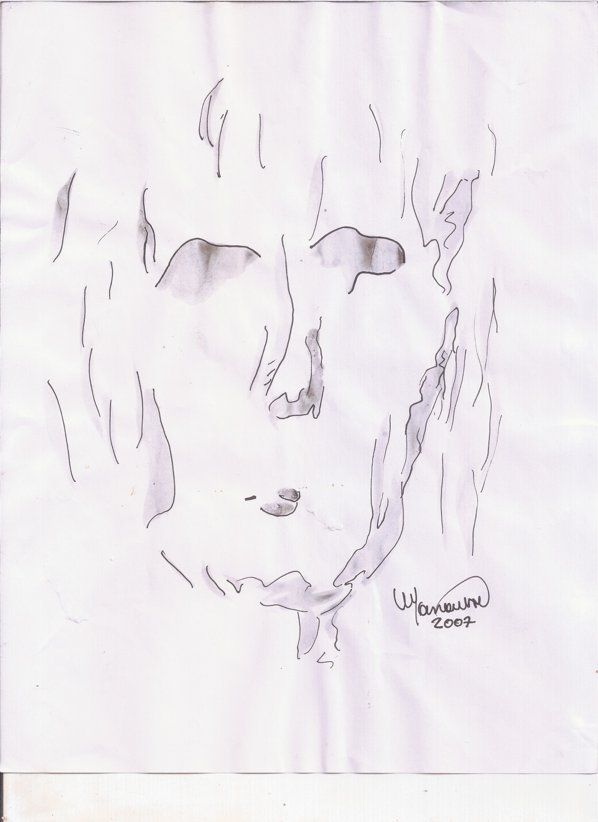 Abstracción del rostro Humano #7