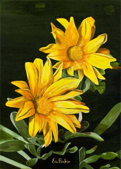 Flores Silvestres Amarillas Eva Rubio Pintura Moderna Www