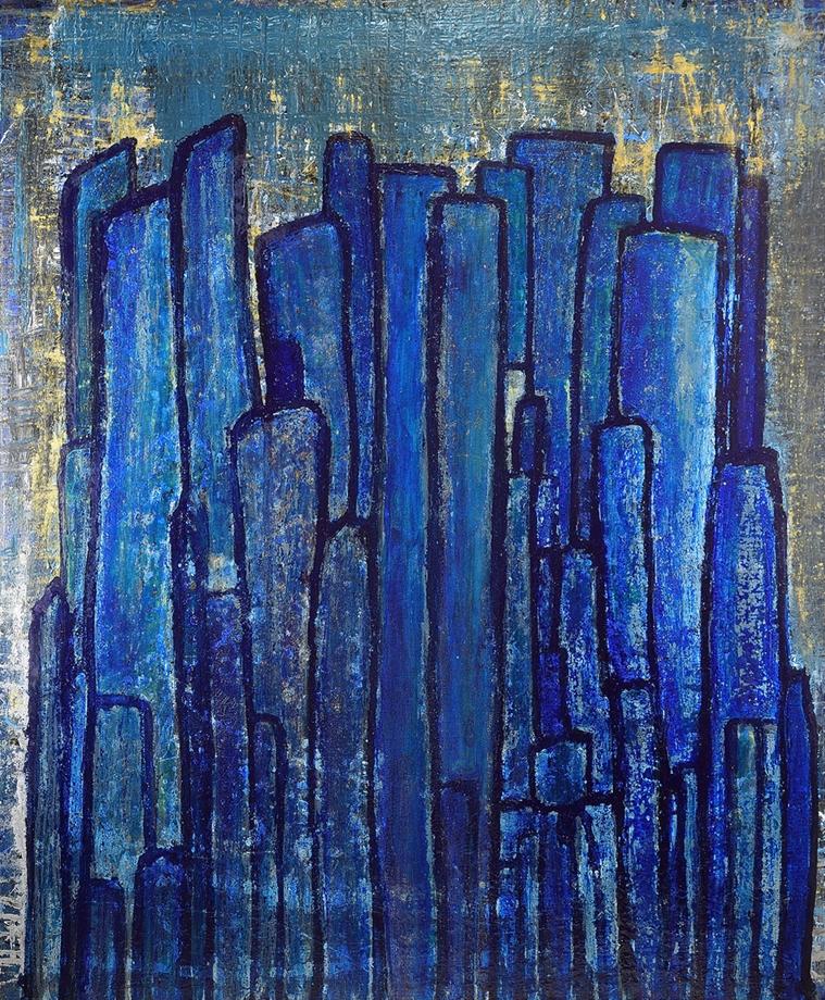 La Roca hecha por la Acumulación de la Palabra Azul