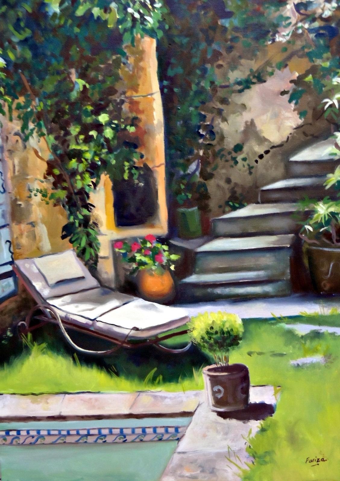 Tumbona y piscina amaya fariza pintura contempor nea for Piscinas amaya